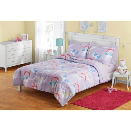 Your Zone Unicorn Bed In A Bag Bedding Set Walmart Com