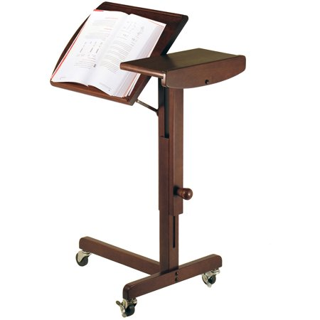 Lap Adjustable Height Table Cart  Walnut