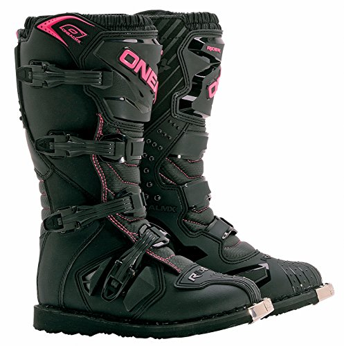 ONeal Rider Womens Black/Pink Motocross Boots - Black-Pin...