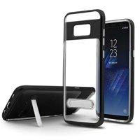 Samsung Galaxy S8 Case, by HR Wireless Stand Hard Snap-in Transparent Case Cover For Samsung Galaxy S8