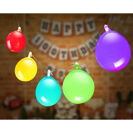 GIGALUMI LED Light Up Balloons String Lights, Premium Mixed-Colors Flashing Party string Lights, Battery powered, Ideal for Parties, Birthdays and Wedding Decorations, Fillable with Helium, Air