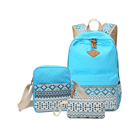 6ba2e1757b6a 3Pcs/Sets Backpacks for Teenage Girls for School, Blue Canvas Backpacks for  Girls Scatchel Rucksack Backpacks for Middle School, Causual Backpack for  ...