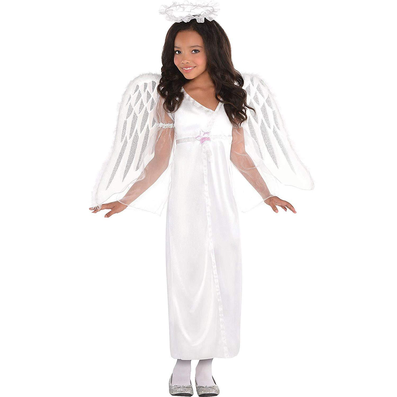 amscan Girls Heavenly Angel Costume - Small (4-6)
