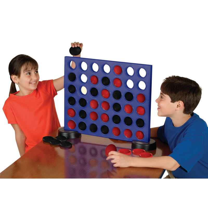 Giant 2-In-1 Four In A Row And Checkers Game by S&S Worldwide