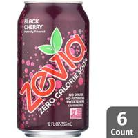 Zevia Black Cherry Zero Calorie Soda, 6 Count