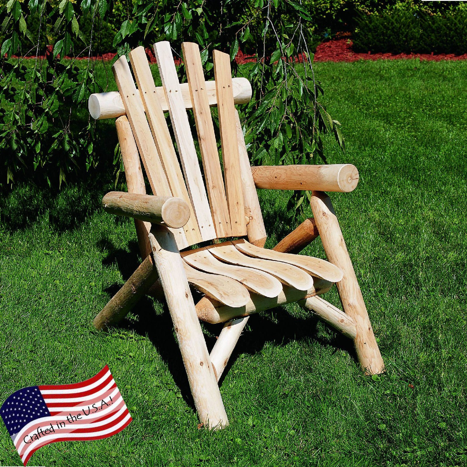 Cedar Log Lounge Adirondack Chair by Lakeland Mills