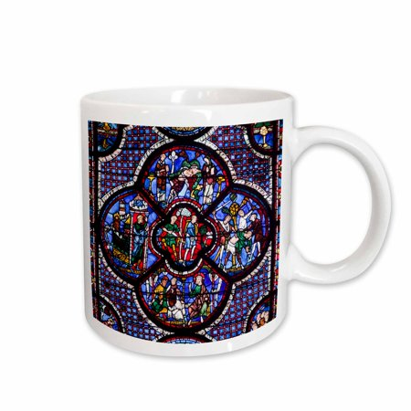 3dRose France, Centre, Chartres, Chartres Cathedral, stained glass window. - Ceramic Mug, 15-ounce