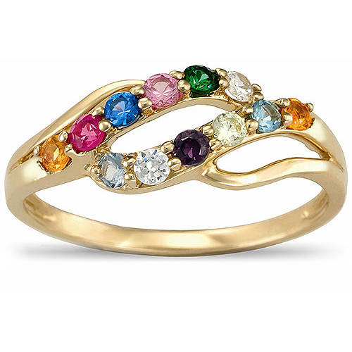 Keepsake Personalized Abundant Mother's Birthstone Ring available in 10kt Gold and 14kt Gold