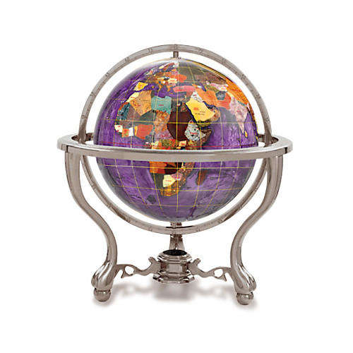 Kalifano Amethyst 9-in. Commander Gemstone Tabletop Globe