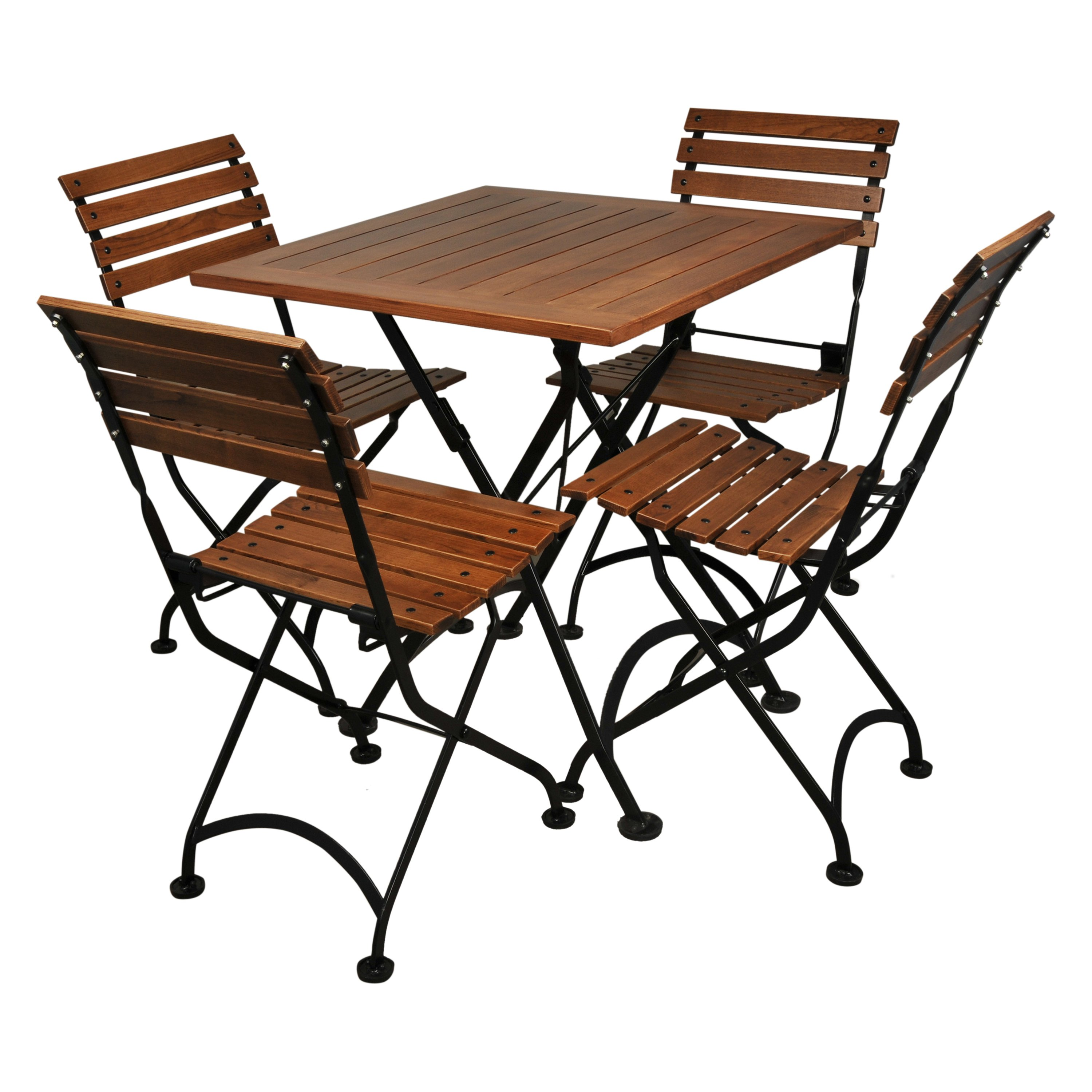 Furniture Designhouse 28 in. Square European Cafe Chestnut Folding Table