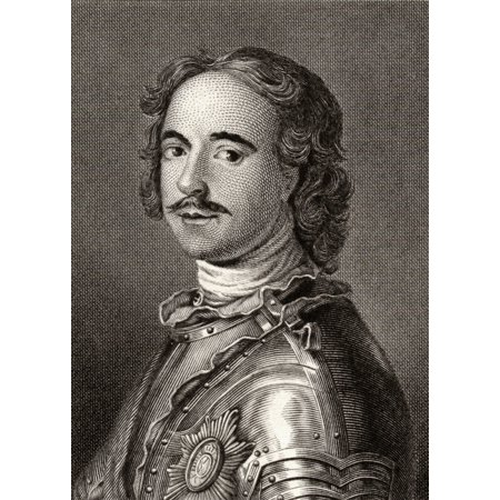 Peter The Great Or Peter I 1672-1725 Tsar Of Russia 1682-1725 19Th Century Print Engraved By Edward F Finden From The Painting By Nattiere Canvas Art - Ken Welsh  Design Pics (12 x 17) ()