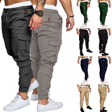 sells great variety styles real deal Men's Slim Fit Urban Straight Leg Trousers Casual Pencil Jogger Cargo Pants