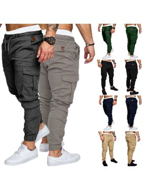 3a901255d7 Product Image Men's Slim Fit Urban Straight Leg Trousers Casual Pencil  Jogger Cargo Pants