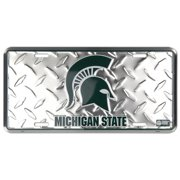 Michigan State Diamond Embossed License Plate