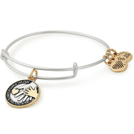 Hand in Hand Two-Tone Charm Bangle - Tommy Hilfiger Silver Tone Bracelet