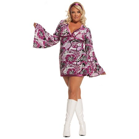 Seventies Vintage Vixen Plus Costume](Vintage Costumes Dallas)