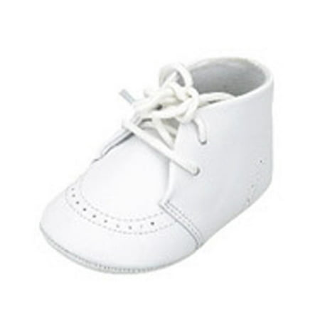 Infant Baby Boys White Christening Soft Sole Crib Shoes ...
