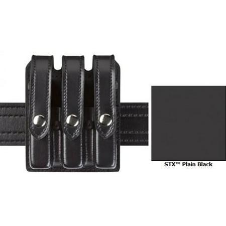 SAFARILAND 777 Slimline Triple Magazine Pouch Finish: STX Tactical Black For Belt Gun Fit: AMT Hardballer Snaps: