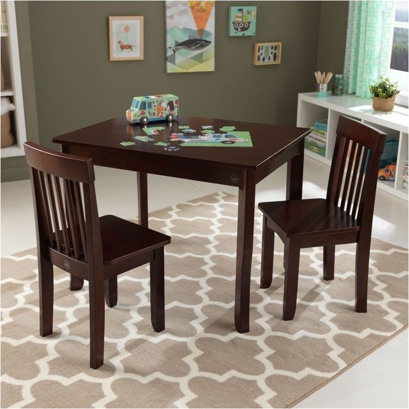Pemberly Row Table II and 2 Chairs Set in Espresso