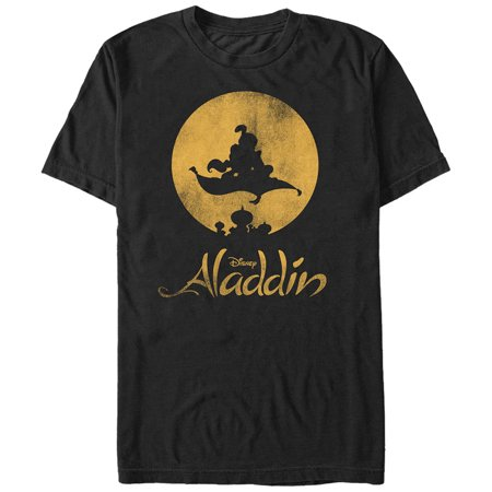 Aladdin Men's Magic Carpet Ride Silhouette T-Shirt (Aladdin Magic Carpet Ride Halloween)