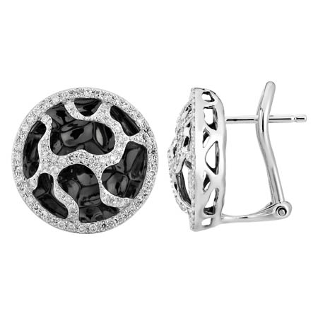 14K White Gold 0.4ct Pebbles in the Garden Micro Pave Set Diamond Stud Earrings
