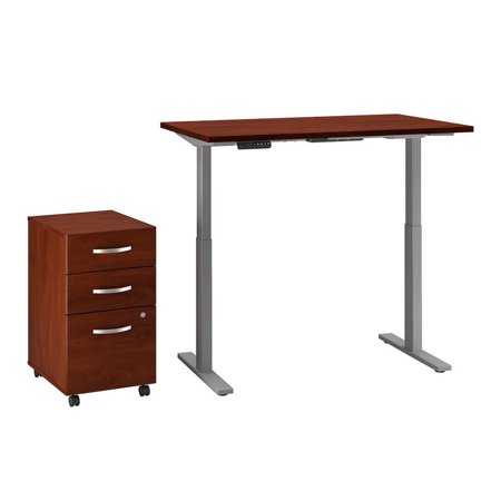 Move 60 Series Height Adjustable Standing Desk with Storage in Cherry - image 7 of 8