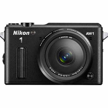 Nikon Black 1 AW1 Digital SLR Camera with 14.2 Megapixels and 10mm and 11-27.5mm Lenses Included