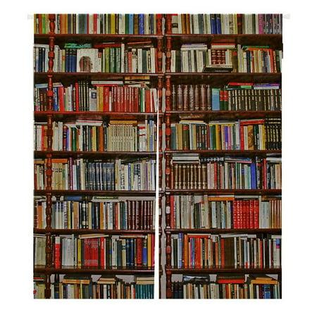 GCKG Neat Bookshelf,Library Japanese Noren Doorway Curtain Doorway Curtain Door Curtain Entrance Curtain Size 105x120cm](Curtains Beads For Doorways)