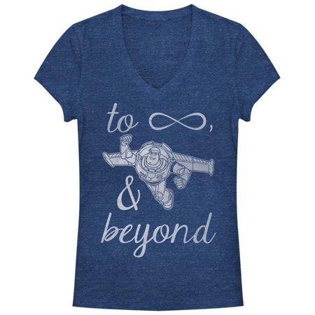 Women's: Collectible Vinyl Toy Story- Infinity Buzz Apparel Womens T-Shirts - (Buzz Off Apparel)