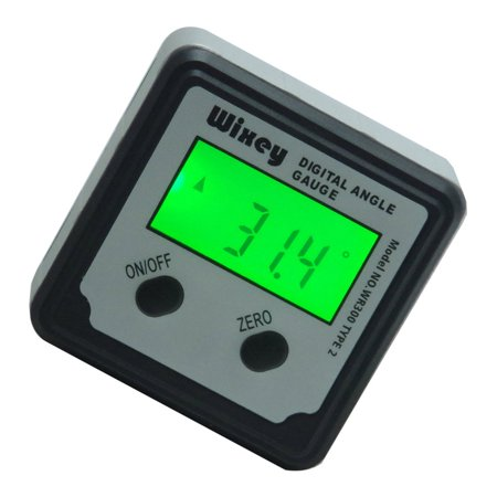 Wixey Digital Angle Gauge WR300 Type 2 with magnetic base and - Digital Gauge Set