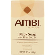 Ambi Black Soap with Shea Butter, 3.5 oz