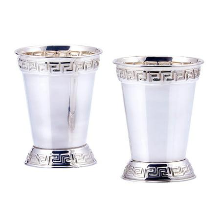 Silver Plated Mint Julep Cups, 12oz - 2 Piece Set