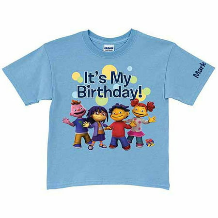 Personalized Sid the Science Kid It's My Birthday Boys' Light T-Shirt, Blue
