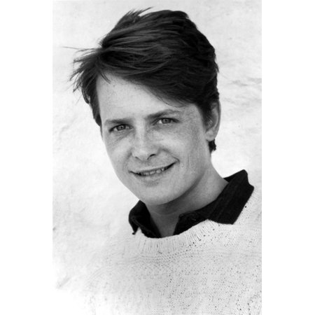 Michael J Fox in Sweater With White Background Print Wall Art By Movie Star News