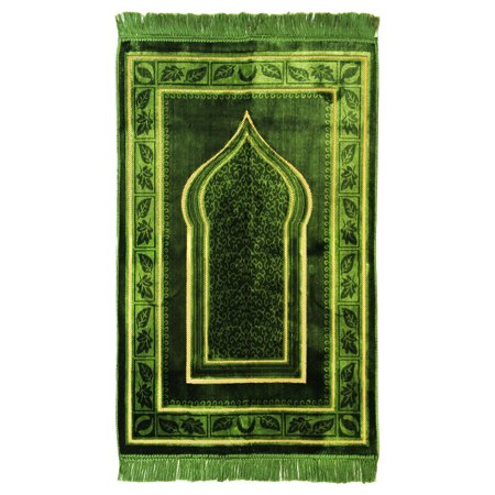 Muslim Prayer Rug 2 3 X 3 6 Green And Tan Color With