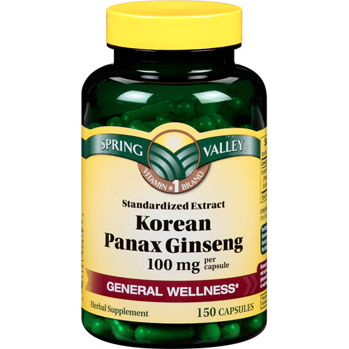 Spring Valley Korean Panax Ginseng Capsules, 100mg, 150 count