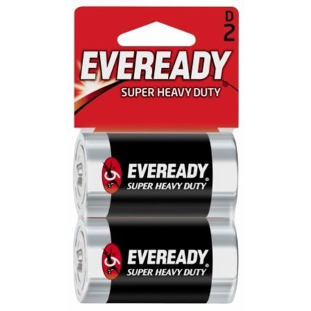 Eveready Super Heavy Duty D Batteries 2 ea
