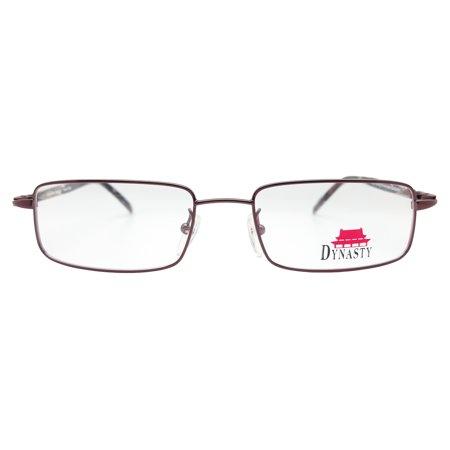 Advantage Eyewear Dynasty Tsin Eyeglasses Frames (Burgundy, 52-18 ...
