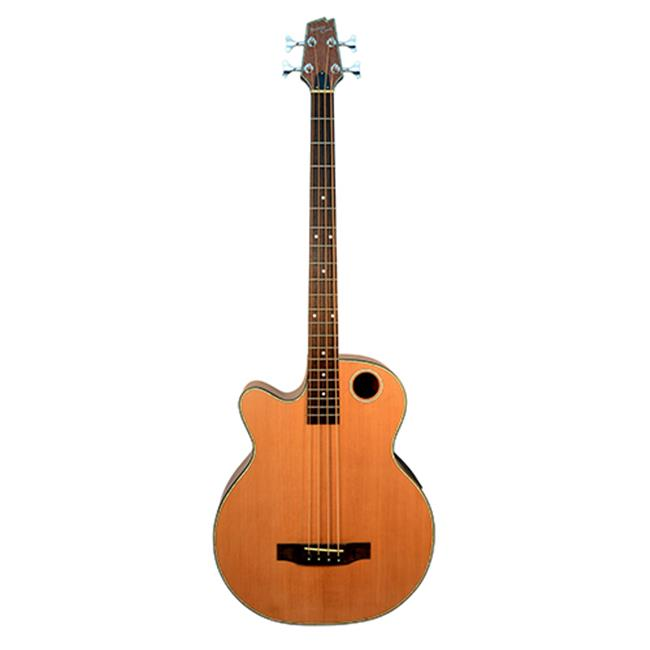 Boulder Creek Guitars EBR3-N4LH Left Hand Acoustic-Electric 4-String Bass Guitar, Satin... by Boulder Creek Guitars
