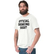 Beer Short Sleeve T-Shirt Tees Tshirts Official Drinking Shirt Partying College