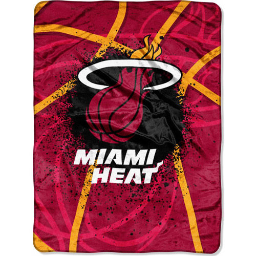 "NBA Shadow Play 60"" x 80"" Royal Plush Raschel Throw, Heat"