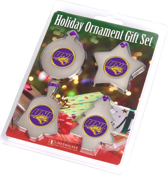 Northern Iowa Ornament 4 Pack