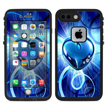 buy online bf91a 37d87 skin decal for lifeproof fre iphone 7 plus or iphone 8 plus case / glowing  heart