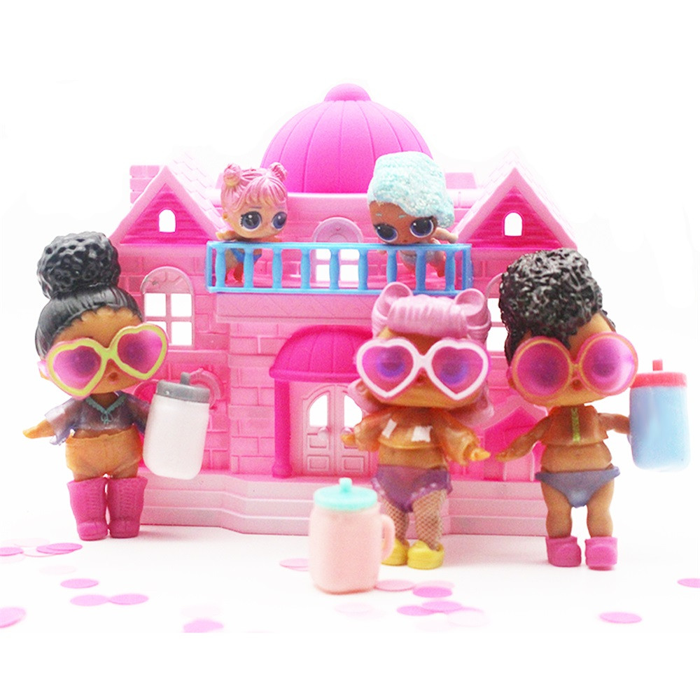 DZT1968 Big Pretend Play Princess Doll House Toy Big Family House For Surprise Dolls