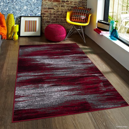 - Red AllStar Modern. Contemporary Woven Area Rug. Drop-Stitch Weave Technique. Carved Effect. Vivid Pop Colors (7' 10