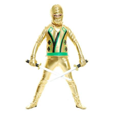 Ninjago Gold Ninja Costume (Child Gold Ninja Avengers Series III)