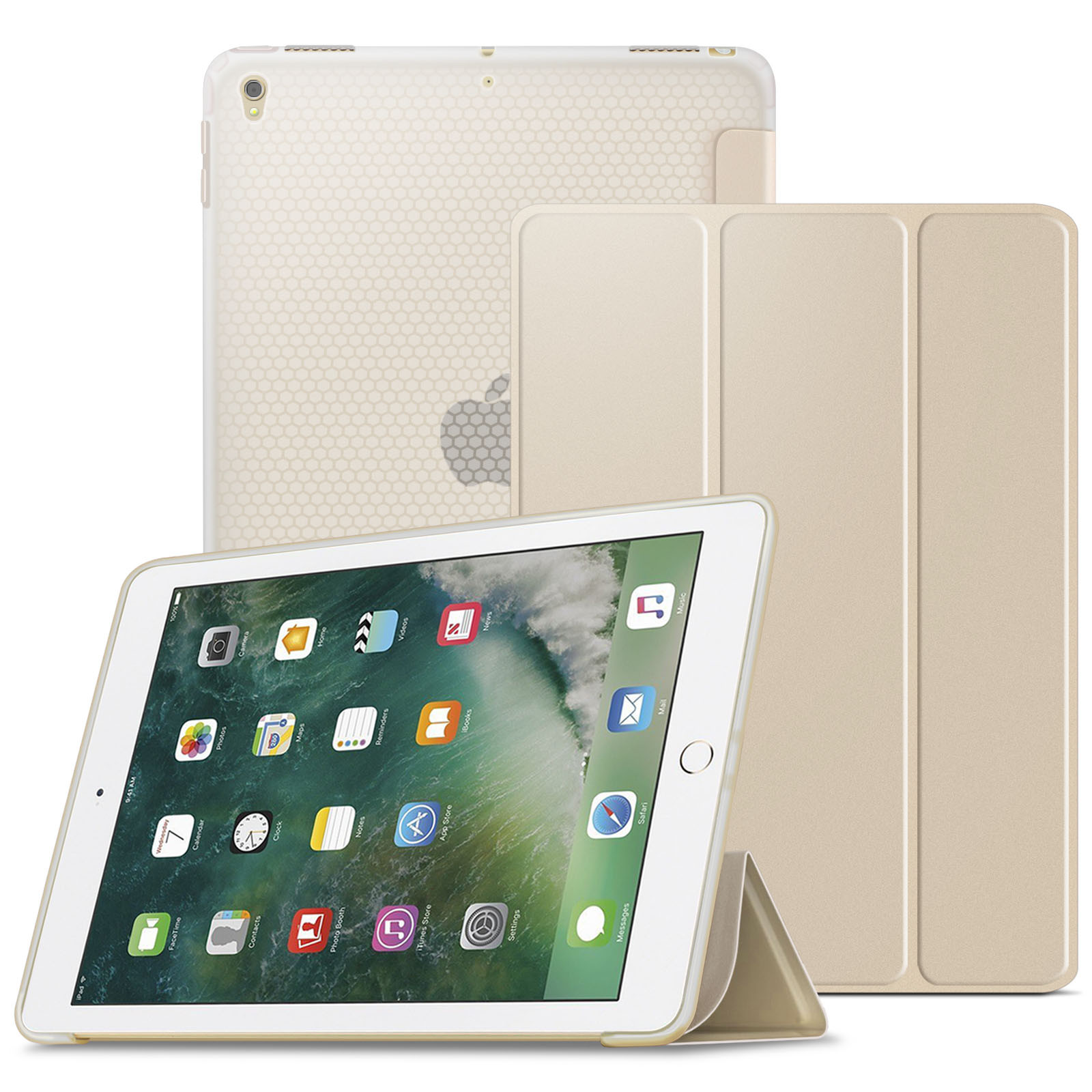Infiland iPad Pro 10.5 Case - Slim Smart Cover with Soft TPU Bumper Edge Corner and