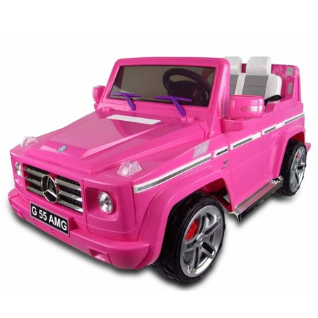 Mercedes benz g55 ride on suv car 12v pink for Ride on mercedes benz toy car