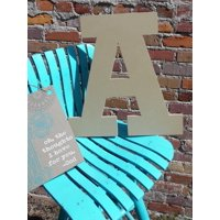 Craft Wooden Letter 6'' A, Unfinished Wood Wall Letter, Rockwell