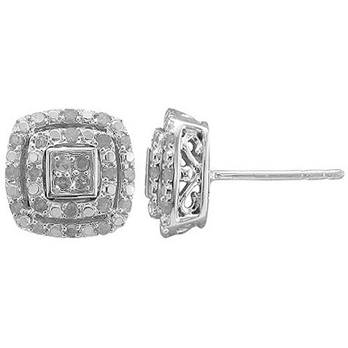 Holiday Collection 1/2 Carat T.W. Diamond Sterling Silver Stud Earrings